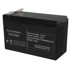 Batterie de secours 12V/7.2Ah