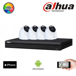 DAHUA - Kit 4 dômes IP 4MP,...