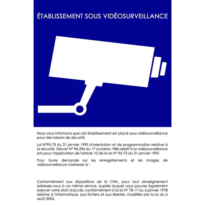 affiche dinstallation de videosurveillance